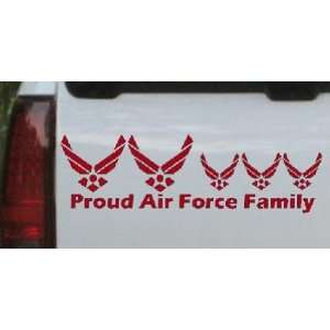 Proud Air Force Stick Family 3 Kids Stick Family Car Window Wall