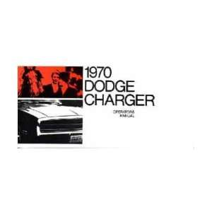 1970 DODGE CHARGER Owners Manual User Guide Automotive