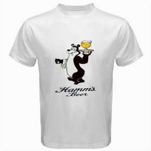 Hamms Beer Logo New White T Shirt Size  L  Everything
