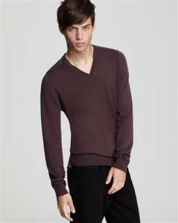 Burberry Brit V neck Cashmere/Cotton Sweater NWT All Sizes Retail $