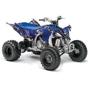 Yamaha YFZ 450 ATV Quad, Graphic Kit   Madhatter Blue, Automotive