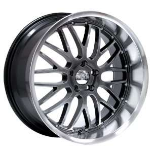 19x9.5 Axis Penta (Hyper Black w/ Machine Polished Lip) Wheels/Rims