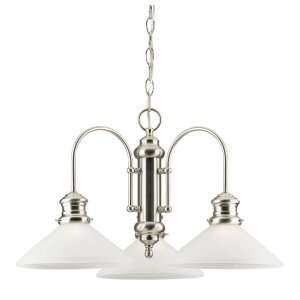 Westinghouse 69220   3 Light Brushed Nickel Ceiling Chandelier Light