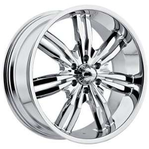 Viscera 727 22x9.5 Chrome Wheel / Rim 5x115 with a 15mm Offset and a