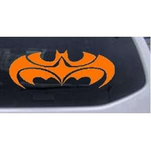 Tribal Batman Car Window Wall Laptop Decal Sticker    Orange 30in X 11