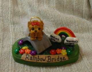 Clay Sculpture CUSTOM Rainbow Bridge Dog Figurine OOAK