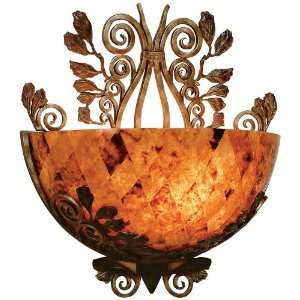 Smith Penshell Bowl and Wrought Iron Wall Sconce