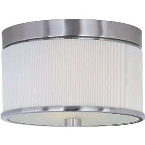 Elements Collection 2 Light 10 Satin Nickel Flush Mount