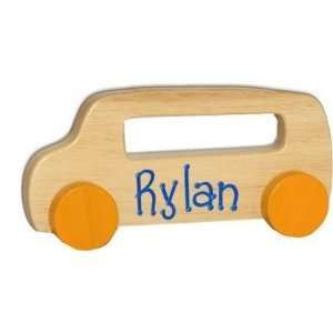 Wood Bus Pull Toy Toys & Games