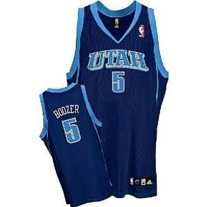 Utah Jazz #5 Carlos Boozer Embroidered Blue Jersey Sports