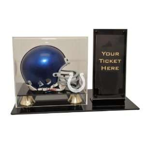 Indianapolis Colts Mini Helmet and Ticket Display