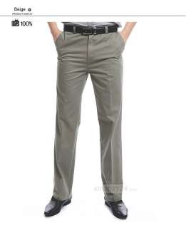 P21014 News Men Stylish Casual Formal Straight Pant Business Trousers