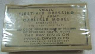 US Army First Aid small dressing Wound bandage carlisle model