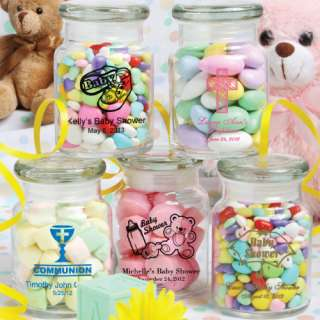 70 Personalized Glass Jar Birthday/ Christening / Baby Shower Favors