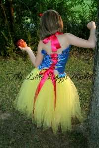 SNOW WHITE Halloween Tutu Dress Set Halloween sz 0 10
