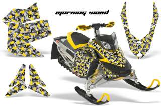 AMR RACING BRP SNOWMOBILE WRAP MX Z GRAPHIC KIT FREERIDE SKIDOO REV XP