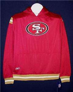 Reebok San Francisco 49ers NFL hoodie jacket YOUTH LARGE