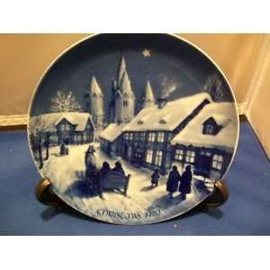 Royale Blue Winter China    1970 Christmas Plate