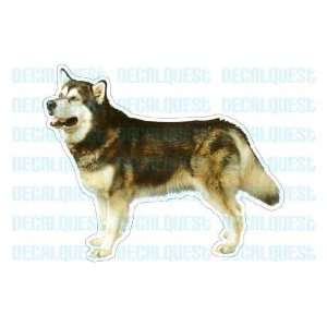 ALASKAN MALAMUTE  Dog Decal   sticker dogs car got window decals