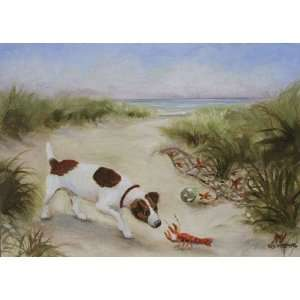 5 X 7 Oringinal Oil Painting Jack Russell Terrier Dog