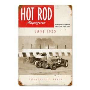 Hot Rod Magazine 1950 Track Roadsters Metal Sign