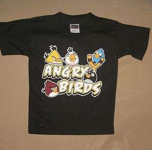 Black Angry Birds Slingshot Toddler Baby Unisex Child Kid Tee T Shirt