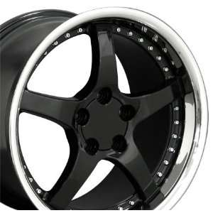 C5 Deep Dish Style Wheel with Rivets Stainless Lip Fits