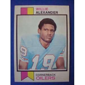 1973 Topps Football Trading Card Houston Oilers Willie Alexander #253
