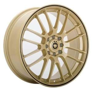 16x7 Konig Twilite (Gold w/ Black Stripe) Wheels/Rims 4x100/114.3