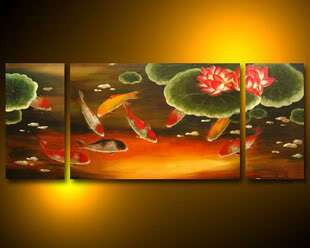 Modern Abstract on Canvas chinese Oil Painting Arta01