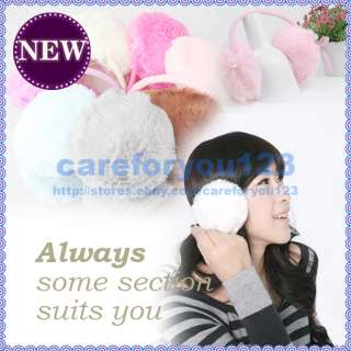 New Artificial Color Fur Earmuffs Simple Fashion Girl Warm Soft