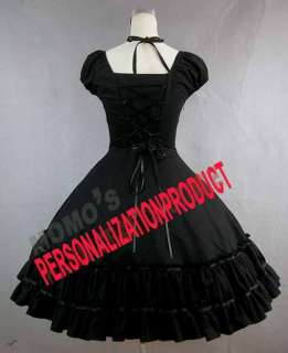 Gothic lolita Civil War Cotton Ball Gown cute bow Dress
