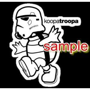 KOOPA TROOPA STORMTROOPER WHITE VINYL DECAL STICKER