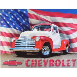 Chevrolet Chevy 1951 Pickup Truck Retro Vintage Tin Sign
