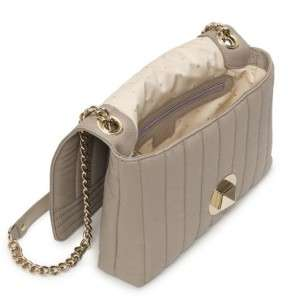 KATE SPADE Gold Coast Evangeline quilted leather ash gray chain bag