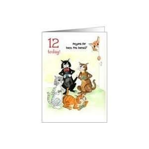 Card for 12 yr old   Cats Playing Video Game Card Toys & Games