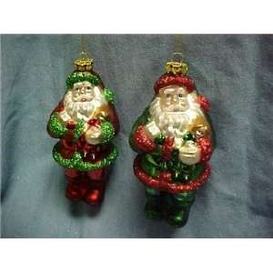 Katherines collection sale topsy turvy GLASS Santa Claus ornament