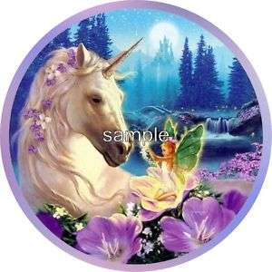 HORSE & FAIRY EDIBLE ICING CAKE DECORATION IMAGE TOPPER