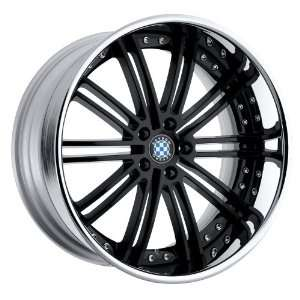 19x8.5 Beyern Baroque (Gloss Black w/ Chrome Lip) Wheels