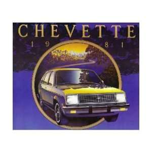 1981 CHEVROLET CHEVETTE Sales Brochure Literature Book