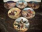 FRANKLIN MINT PLATES INDIAN WESTERN HERITAGE MUSEUM SET BY TOM BEECHAM