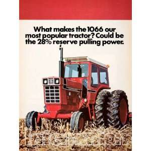 1976 Ad International Harvester 1066 Tractor Agriculture