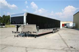 NEW 8.5 X 44 8.5 X44 ENCLOSED GOOSENECK CARGO CAR HAULER TRAILER 21K