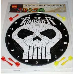 The Punisher Reversible Magnetic Dartboard Toys & Games