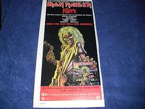 Iron Maiden   Killers   American Tour 1981 Print Ad