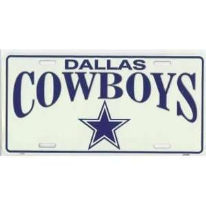 Dallas Cowboys NFL Metal License Plate