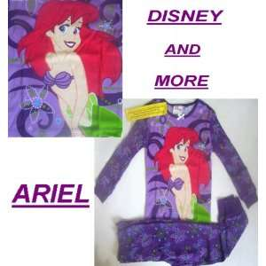 DISNEY PRINCESS ARIEL LITTLE MERMAID PAJAMAS Long PJS Cotton Girls