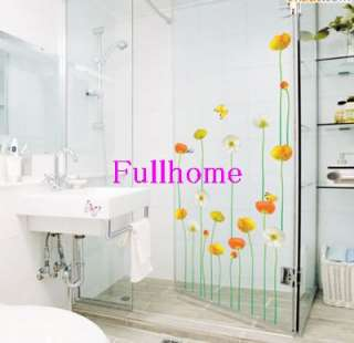 Flower art Wall Stickers DIY Mural Deco Decal,R049