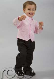 Baby Boys Pink Wedding Page Boy Outfits Communion Suit Age 0 Months