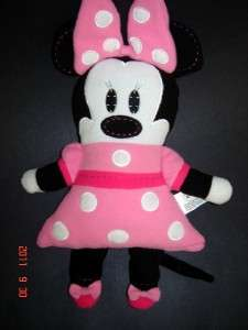 DiSNeY WoRLD FLaT PiNK PoLKa DoT MiNNie MouSE PLuSH ToY